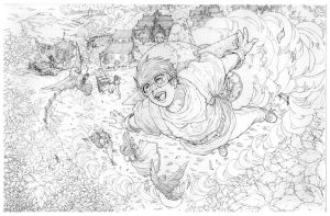 My Brother The Dreamer -pencil by werder