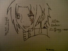 Attempt to draw Allen by AoiAoyagiPhantomhive