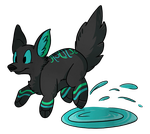 Puddle Puppy by i-Moosker