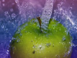 Drenched Granny Smith by Hunter-Arkaman
