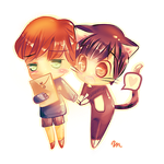 Takano and Onodera ~ [chibi] by CunningScarecrow