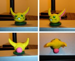 Rabite Polymer Clay Model by eviternovices