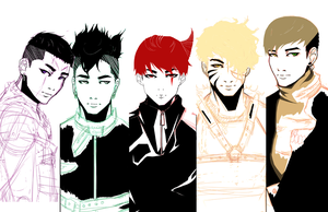 Monster BigBang poster progress cont by Angrypanda-Gin