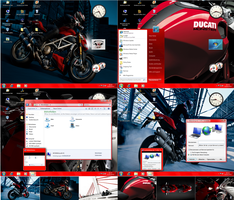 Win7 Ducati theme for XP by PeterRollar