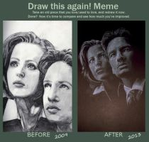Draw Again Meme: The X-Files by StandsWithAPencil