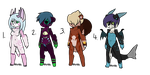 Anthro Adopts (CLOSED) by Neon-Spots-Adopts