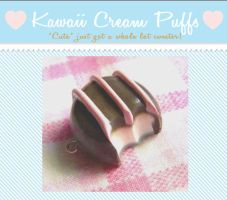 Striped Chocolate Truffle Charm by kawaiicreampuffs
