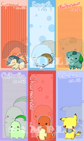 AN09 - Pokemon Bookmarks by Kioushan