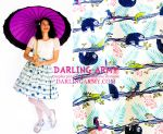 Sloth Print Vintage Inspired Tea Length Skirt by DarlingArmy