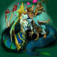 Dota_ Meepo and Naga Siren by Vera-Ist-44