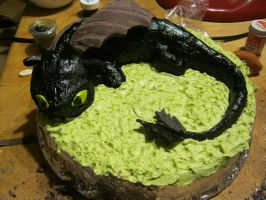 toothless cake progress 3 by toastles