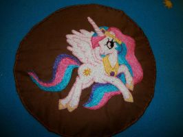 Princess Celestia Embroidery by grandmoonma