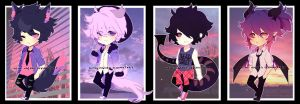 [Auction] Sunset and Sunrise Adopts- closed by Neon-Hazard