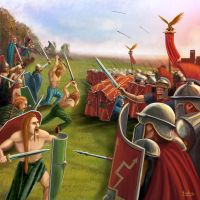 Roman battle by Erebus-art