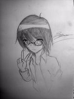 Drawing of me X3 by UnitInfinity
