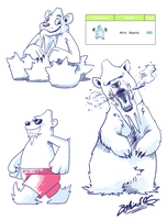Pokedesign - Beartic by TamarinFrog