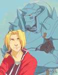 Elric Brothers by NillaKiwi