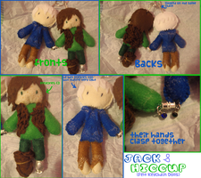 Hijack Felt dolls (6 month Anniversary gift) by strawberrybunny4341