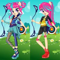 Sour Sweet Archery Style Dress Up by heglys