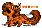:5: Orange Dragon [OPEN FOR 12 POINTS] by MajesticChupacabra