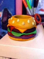 Cheezburger Pencil Holder :) by DoodleGirl67