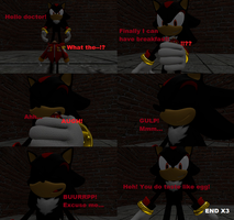 Shadow swallows Eggman comic by SonicInflationLover