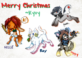 Christmas Gifts 1 ::Chibis:: by LittleKyvy