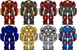Iron Man Hulkbuster Variants by UltimateLomeli