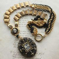 Memento Mori Book Chain Necklace by asunder