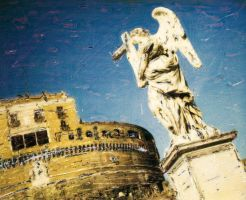 rome: s.angelo in polaroid by i-shadow