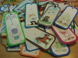 hand painted bookmarks by beckadoodles