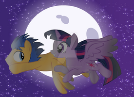 Starry night flight by NerdPonyMod