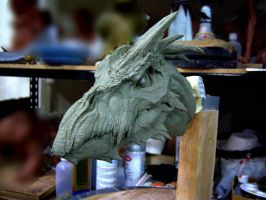 Dragon, clay sketch 2 by DaveGrasso