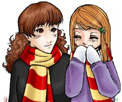 Hermione and Ginny by IN-coldwater
