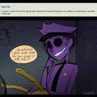 FNAF - Purple Ask #1 - Why, Hello There by Atlas-White