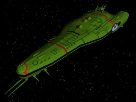 Zentraedi Battleship - Front 2 by X1Commander