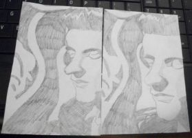 Johnny Cash Sketch 2-3 by TheCape99