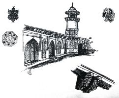 fast sketch of a mausoleum in India by mustafanagy