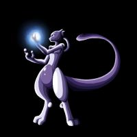 Mewtwo Doodle by WeirdoFish