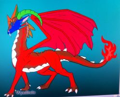 Rose the Flower Dragon by queenfirelily17