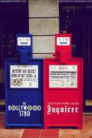 Newspaper Coin Machine by artemiscrow