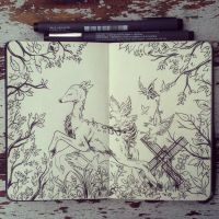 #24 Fairy Tale Woods by 365-DaysOfDoodles