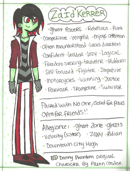 .:Zaid (1990) Reference Sheet:. by PrennCooder
