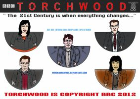 Team Torchwood Minis by mikedaws