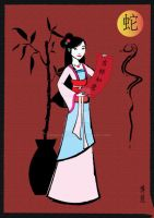 Chinese New Year celebration with Mulan by AmadeuxWay