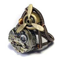 Steampunl propeller Ring by CatherinetteRings