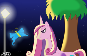 Princess Cadence And Lighting Butterfly by CrazyAngelPony