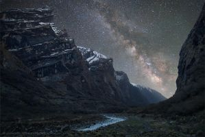 Milky Way above th Himalaya by jankovoy