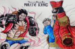 Monkey D Luffy VS Gol D Roger by toonager