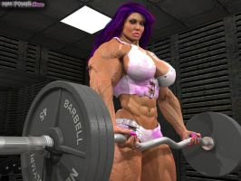 Sonya pumping iron by Tigersan